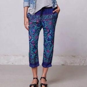 Anthro Lilka Floral Drawstring Pants. Size S.